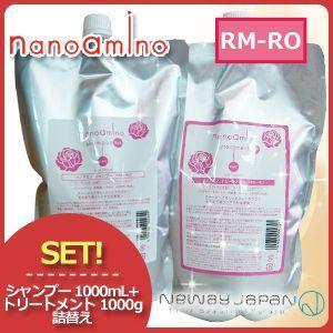 ニューウェイジャパン ナノアミノ ローズシャボン シャンプー RM-RO 1000mL & ...
