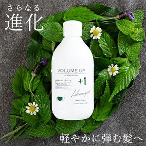 【単品】美髪成分を新配合!美容師開発のファーストエイジングケア!ボリュームアップ シャンプー +1(300ml)|hairmake-earth-store