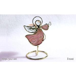 珪藻土アロマプレート ホーンの天使 ピンク 〔立風屋〕スタンドセット|hajimaru