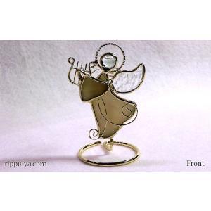 珪藻土アロマプレート ハープの天使 アイボリー 〔立風屋〕スタンドセット|hajimaru