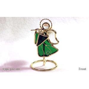珪藻土アロマプレート フルートの天使 グリーン 〔立風屋〕スタンドセット|hajimaru