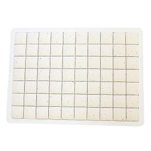 ピュアリフレ 珪藻土タイルバスマット ホワイト Lサイズ 〔立風屋〕|hajimaru|02
