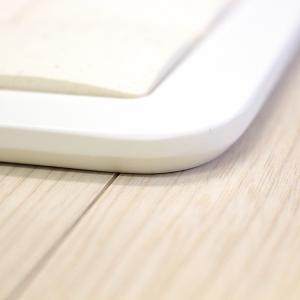 ピュアリフレ 珪藻土タイルバスマット ホワイト Lサイズ 〔立風屋〕|hajimaru|04