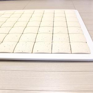 ピュアリフレ 珪藻土タイルバスマット ホワイト Lサイズ 〔立風屋〕|hajimaru|05