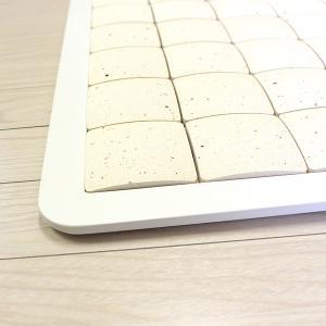 ピュアリフレ 珪藻土バスマット ホワイト Sサイズ 〔立風屋〕|hajimaru|05