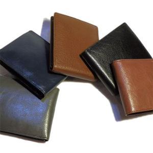 バッファロー本革製 メンズ二つ折り財布/束入れ(ノンブランド)|hajimaru