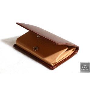 (永久創)本革 コインケース  ブラウン/レッド(茶) NIFTY2シリーズ XO1105-R-BW|hajimaru
