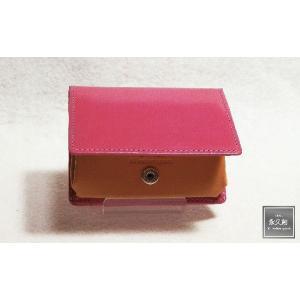 (永久創)ブライドルレザー コインケース  ピンク Brilliantシリーズ XO4104-PK|hajimaru