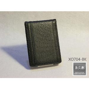 (永久創)本革製 パスケース(定期入れ)  ブラック(黒) PLEASURE シリーズ XO704-|hajimaru