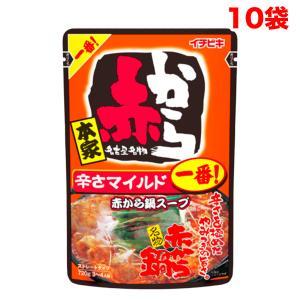 イチビキ 赤から鍋スープ 1番 ストレートタイプ 袋750g×10袋入(名古屋赤味噌)【10kg】