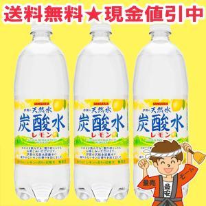 伊賀の天然水炭酸水レモン 1L×12本 サンガリア【発送重量 10kg】codeC1|hakariurisaiyasu