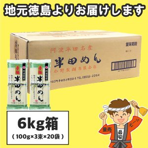 半田そうめん(手のべ) (100g×3束)×20袋 小野製麺(のし 無料)【発送重量 5kg】codeB1|hakariurisaiyasu