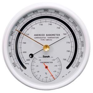 三王Sunohアネロイド型指示気圧計(温度計付)TYPE-SBR151
