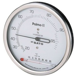 佐藤計量器SATOパルマII型湿度計(温度計付) No.7562-00|hakaronet