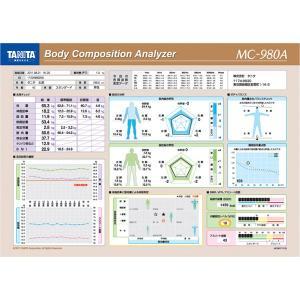 タニタ体組成計MC-980A plus専用カラー台紙1000...