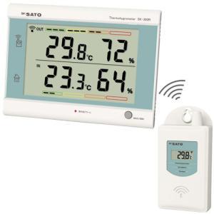 佐藤計量器 SK-300R 最高最低無線温湿度計 No.8420-00 SATO|hakaronet