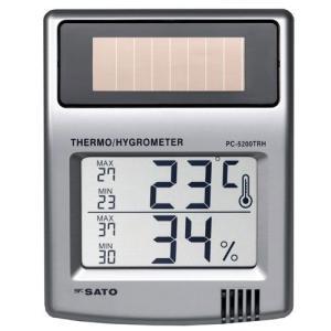 佐藤計量器 PC-5200TRH ソーラーデジタル温湿度計 No.1050-10 SATO|hakaronet