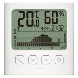 タニタ TT-581-WH グラフ付きデジタル温湿度計 TANITA|hakaronet