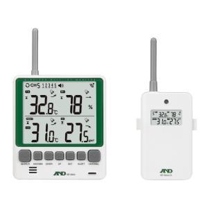 エーアンドデイ AD-5664SET マルチチャンネルワイヤレス環境温湿度計 A&D|hakaronet