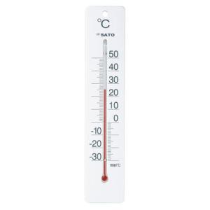 佐藤計量器SATO 寒暖計ミルノDX ホワイト 1514-00|hakaronet