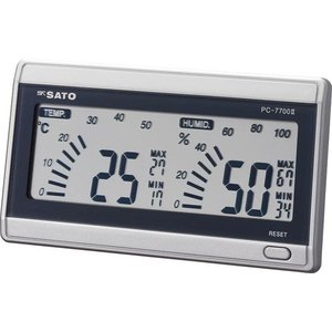 佐藤計量器 PC-7700II デジタル温湿度計 ルームナビ No.1069-00 SATO|hakaronet