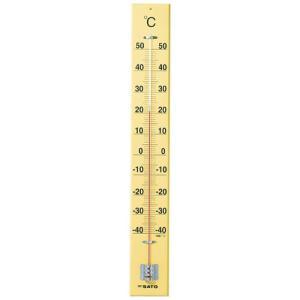 佐藤計量器SATO 木製大型寒暖計 SK式90型全長90cm 1530-30|hakaronet