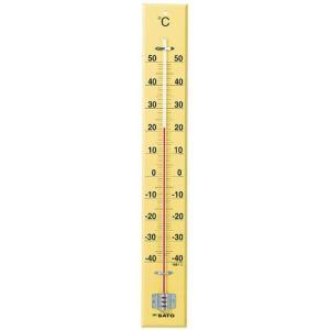 佐藤計量器SATO 木製大型寒暖計 SK式60型全長60cm 1530-20|hakaronet