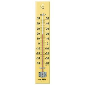 佐藤計量器SATO 大型木製寒暖計 SK式45型全長45cm 1530-10|hakaronet