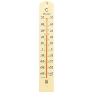 佐藤計量器 SATO 大型寒暖計ミルノ パステルイエロー 1517-20|hakaronet
