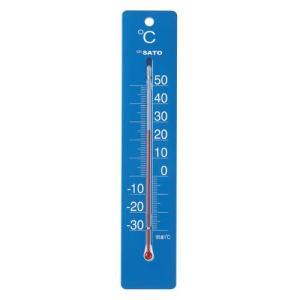 佐藤計量器SATO 寒暖計ミルノDX ブルー  1514-30|hakaronet