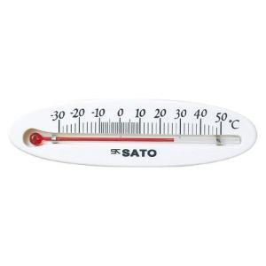 佐藤計量器SATO冷蔵庫用温度計ミニ横型 1714-00|hakaronet