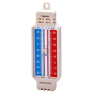 佐藤計量器 ミニマックス・ワイド(レッド)-40〜50℃ 最高最低温度計 1508-50 SATO hakaronet