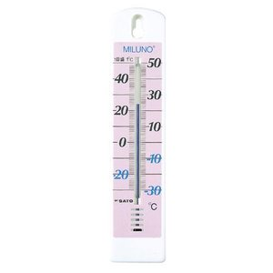 佐藤計量器SATO カラー寒暖計ミルノ ピンク 1513-00|hakaronet