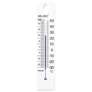 佐藤計量器SATO カラー寒暖計ミルノ ホワイト 1516-20|hakaronet