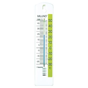 佐藤計量器SATO カラー寒暖計ミルノ グリーン 1513-20|hakaronet