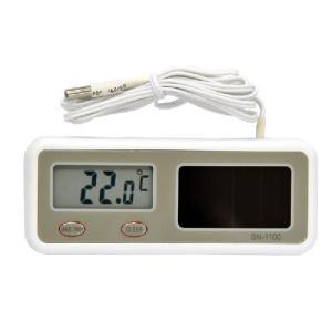 熱研NETSUKEN最高最低温度メモリー付ソーラーデジタル温度計SN-1100|hakaronet