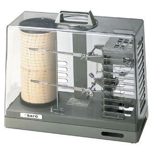佐藤計量器 シグマII型温湿度記録計 手巻き式 No.7215-00 SATO|hakaronet
