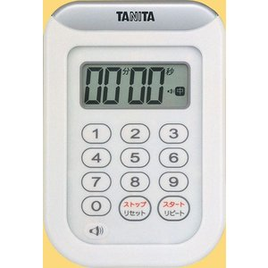 タニタTANITA丸洗いタイマー100分計TD-378-WHホワイト hakaronet