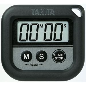 タニタTANITA丸洗いタイマー100分計TD-376-BKブラック hakaronet