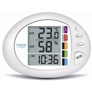 佐藤計量器SATO熱中症計付き温湿度計PC-7900GT No.1075-00|hakaronet