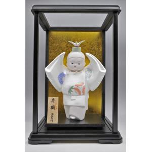 博多人形 【寿 鶴】  ご多幸を祈って「鶴」を舞う hakata-honpo