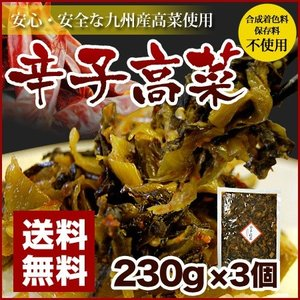 辛子高菜 230g×3袋 博多 送料無料 ポイント消化 おにぎり・チャーハン・ラーメン・パスタにどうぞ|hakataichi