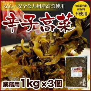 博多辛子高菜 1kg × 3袋 九州産高菜を使用  リピート注文殺到中|hakataichi