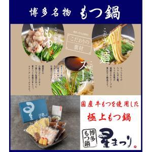 博多もつ鍋 しょうゆ味 ギフトセット 4〜6人前 鍋セット ミシュランガイド もつ鍋セット