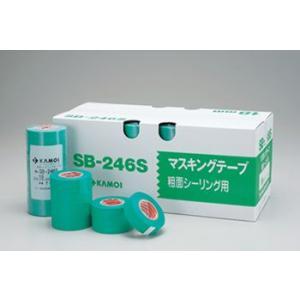 養生・マスキングテープ カモ井 SB-246S(粗面サイディングボード用) 18mm×18m 70巻入り|hakeya
