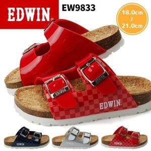 エドウィン キッズサンダル 9833 EDWIN フットベットサンダル 17SS05|hakimonohiroba