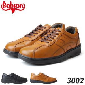 ボブソン 3002 メンズスニーカー BOBSON ブラック ブラウン ファスナー 4E 18SS04|hakimonohiroba