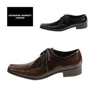 キャサリンハムネット ビジネスシューズ メンズ  3948 スクエアトゥ 外羽根 スワールモカ 紳士靴 P15|hakimonohiroba