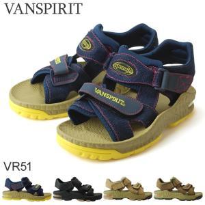 在庫限り ヴァンスピリット VR51 メンズサンダル VAN SPIRIT ネイビーデニム ブラック ベージュ オリーブ ベルクロ 18SS05|hakimonohiroba