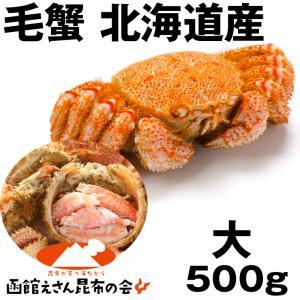 毛ガニ 送料無料 蟹)北海道産毛ガニ 500g強 ボイル冷凍...
